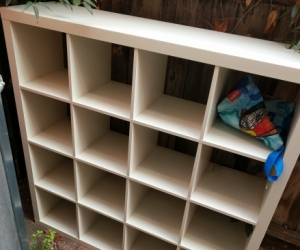Ikea shelves, table and TV unit