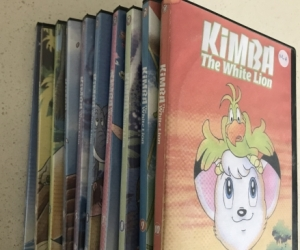 Set of 10 Kimba the White Lion DVDs - pick up Aspendale