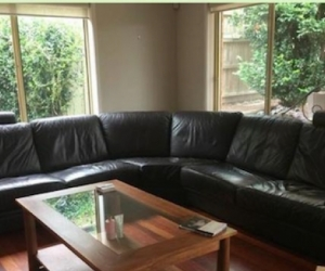 Large 8 seater leather couch