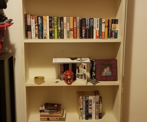 Large white bookshelf