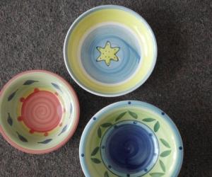 bowls, small plates etc