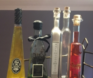 Glass Bottles for Display Only *inside contents have expired