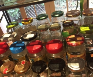 Empty & Clean Glass Jars with Lids