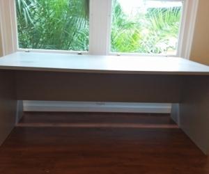 Large melamine desk