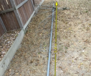 Galvanised 40mm diameter antenna mast 5.4m