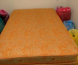 Good condition double bed frame and bed