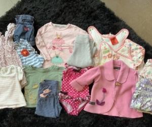 Baby girls to toddler clothing bundle