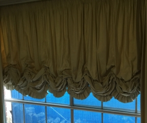 Calico curtains