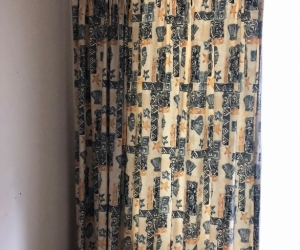 Two block out full length curtains