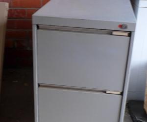 Filing cabinet 2 drawer grey