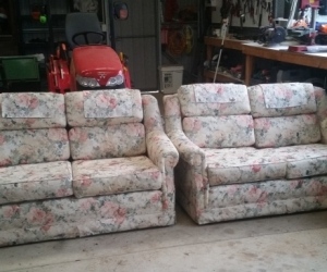 2 seater couches and 2 arm chairs