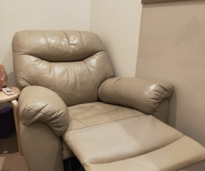 Real leather reclining chair