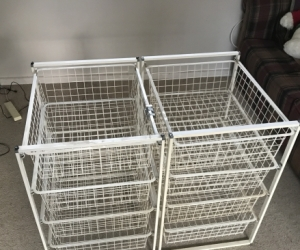 Metal basket drawers