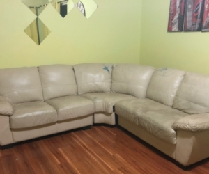 LUCAS 5 Seat Leather Corner Modular Sofa - Absolutely FREE