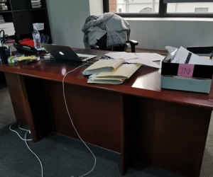 Large office desk, located William Street CBD