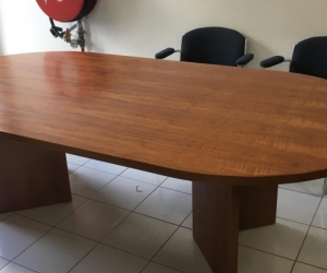 Large oval dining or boardroom table