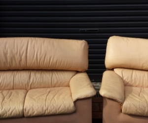 Set of 2 @ Leather Couches and Chairs