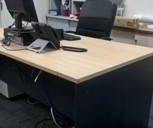 Desks and Partitions