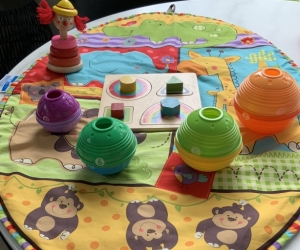 Fisher Price playmat and toys
