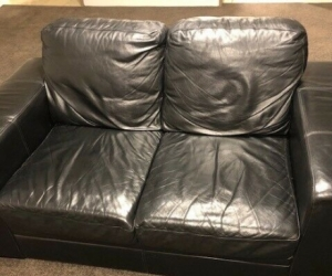 2 x 2 Seater Leather Lounges