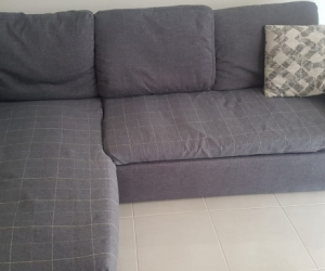 Grey 3 seater lounge sofa with chaise and storage FREE