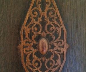 Lovely Moroccan-style darkwood wooden wardrobe /cupboard