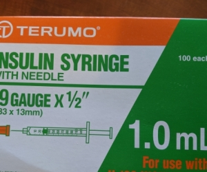 Half a box of syringes - Melbourne CBD