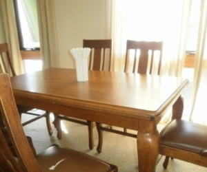 old blackwood dining setting, 6 chairs