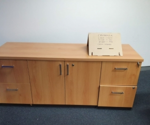 TIMBER OFFICE CREDENZA