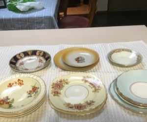 Fine bone China plates. Odds and ends
