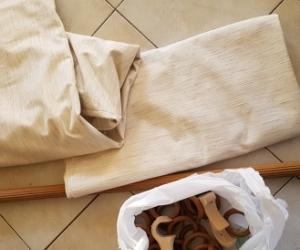Curtain and curtain rod.