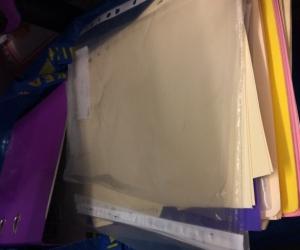 Office/School Stationery - files, plastic sleeves,  manila folders