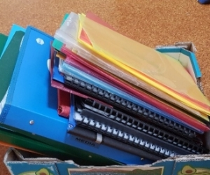 Lot of binders, folders etc