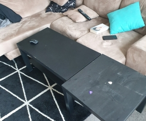 Coffee table and 3x side tables