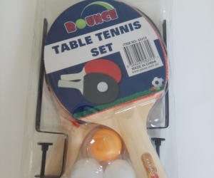 Unopened table tennis set