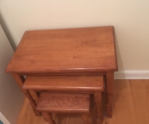3 Wooden Nesting Tables