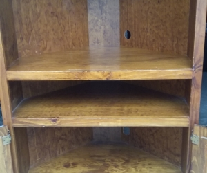 Pine TV Corner Unit - Solid timber
