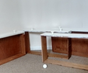 Hardwood drawers for upcycling