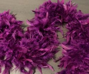 Purple feather boa