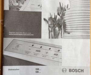 Bosch dishwasher that needs repair