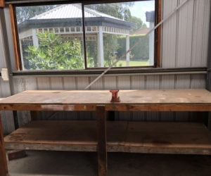 Work bench with swivel vice / clamp