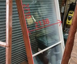 LARGE HARDWOOD WINDOW - DOUBLE GLAZED - FITZROY