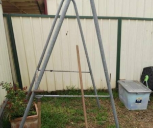 Outdoor Chin-Up / Pull-Up A frame,   FREE home made galvanized.