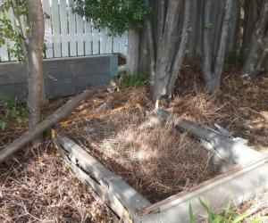 Old lift ramp metal for scrap