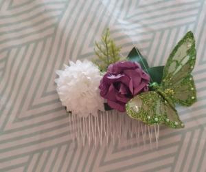 Floral comb hair piece