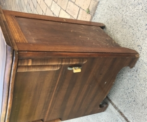 Treadle sewing table cabinet