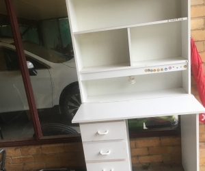 Kids desk with shelves and light