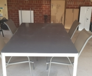 Outdoor table (glass top), 4 chairs