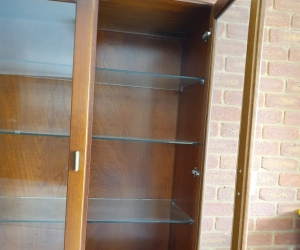 Bookcase /display cabinet - timber & glass doors