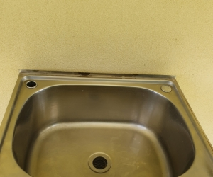 Laundry trough, stainless steel